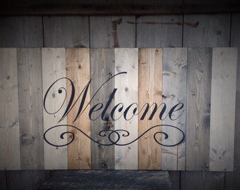 Welcome Sign, LARGE wood welcome sign, farmhouse,  welcome sign, farmhouse wall decor, welcome sign, farmhouse style, rustic farmhouse,