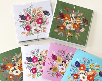 Samantha Assorted 8 Card Set with Envelope Stickers