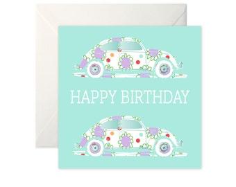 VW Bug Birthday Card