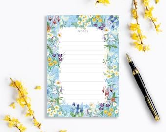 Irish Spring Blue Illustrated A5 Notepad / Tear-off Notepad / Everyday Organiser