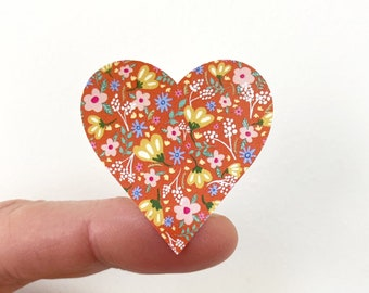 Floral Hearts A4 Sticker Sheet (35 die cut hearts)