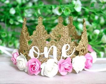 Gold Silver Pink or White MINI Lace Crown Headband Bride Bachelorette Newborn Dog Cat Photo Prop Birthday Crown Princess Party Cake Topper