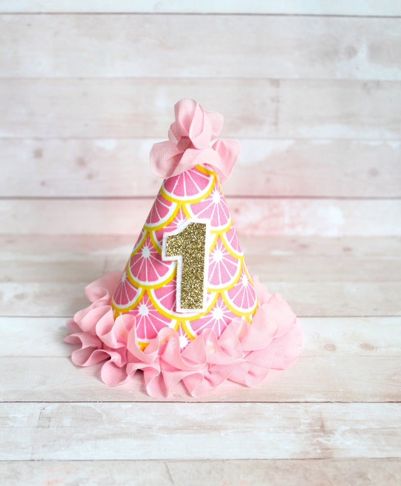 Pink Yellow Lemon Lemonade MINI Birthday Party Cake Smash