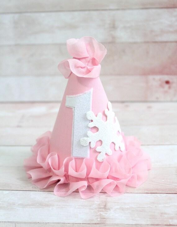 5bc2e3e77e2 Winter ONEderland Frozen Ice Princess Snowflake Party Hat Cake