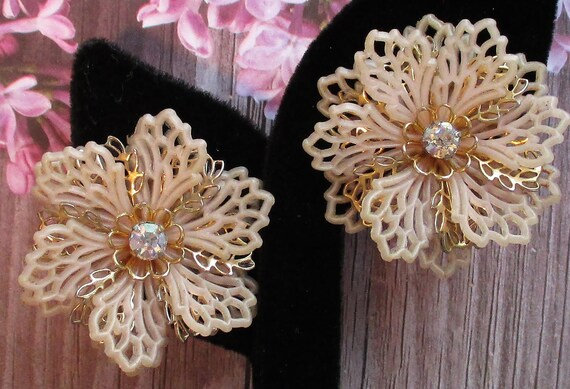Signed Rhinestone Vintage Jewelry Coro Clip On Earrings