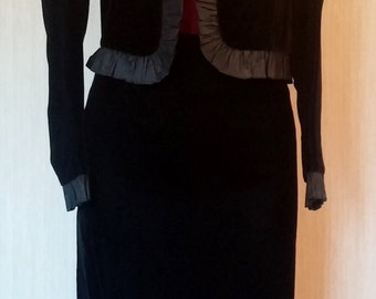 Jujin Plaxa Couture Black Velvet Suit