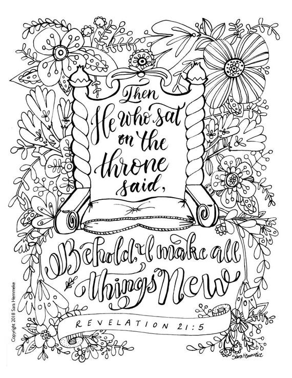 Coloring Page Bible Verse Revelation 215 DOWNLOAD