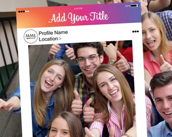 Instagram Style Frame - Customized - Digital File