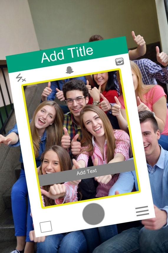 Schnappverschluss Chat Stil Photo Booth Rahmen digitale