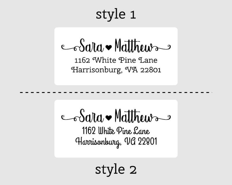 Calligraphy 100-250-500 Custom Return Address Labels Stickers DYAD9