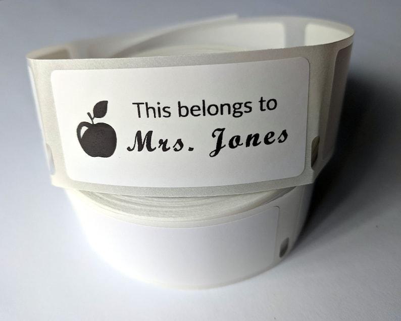 100-250-500 Custom Teacher Stickers School Stickers DYAD21 Apple