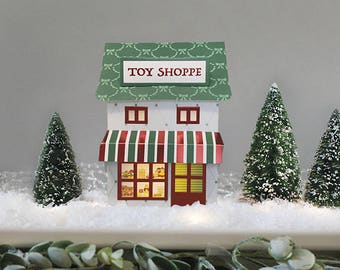 Pop-Up Toy Shop Village House, Christmas Toy Store, Foldable Toy Store