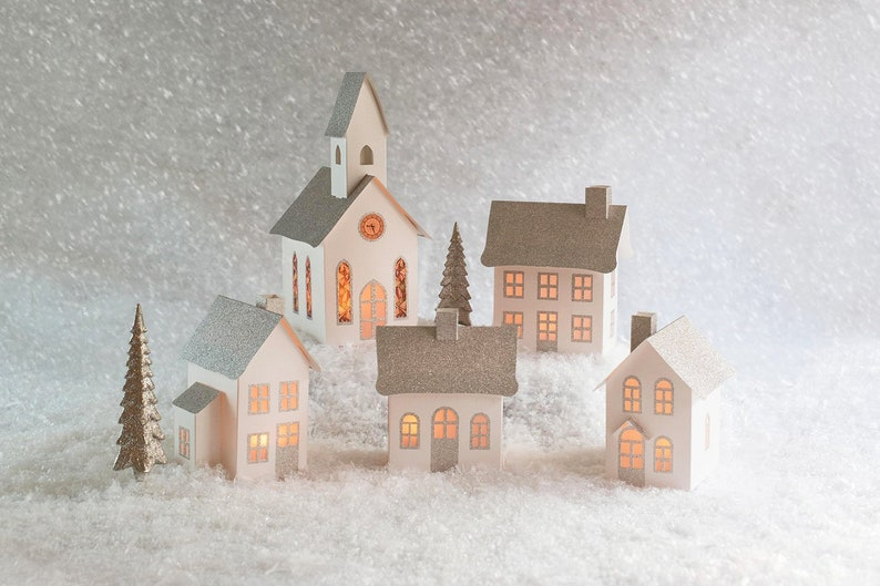 How To Store Christmas Village Houses.Christmas Village Pop Up Foldable Keepsake Houses Fold Flat To Store Christmas Village