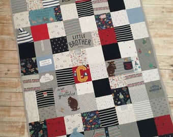 Large Keepsake Blanket - A blanket made with your baby or loved ones clothes