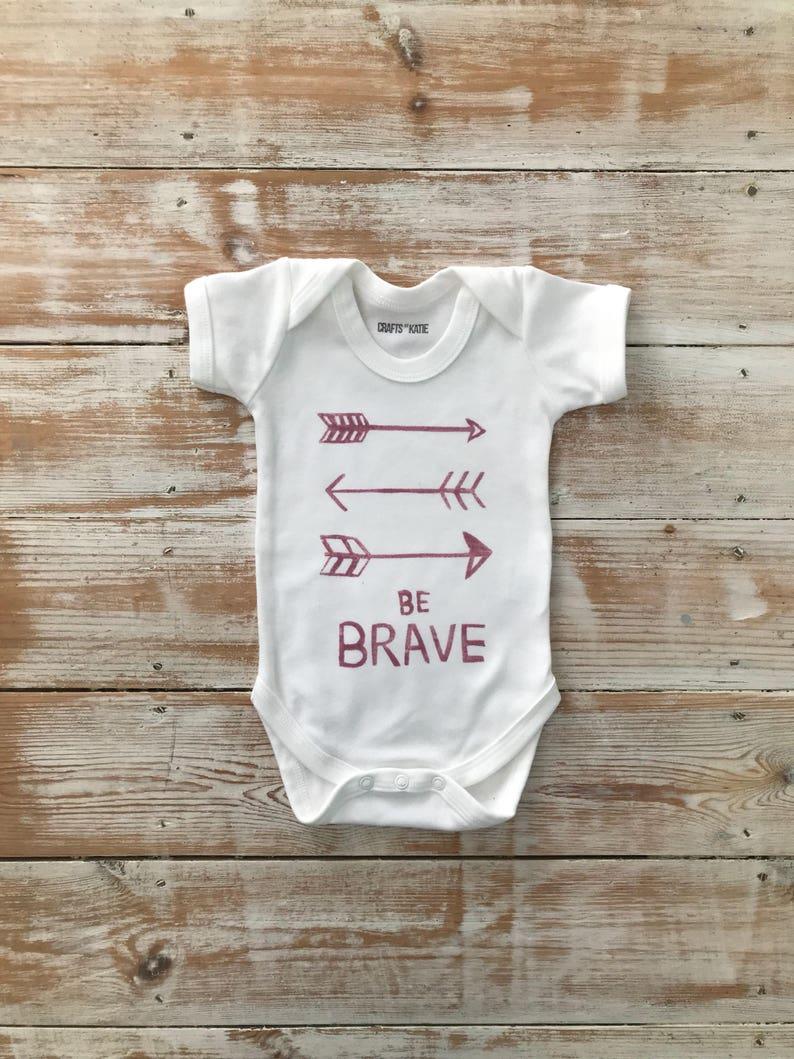 Be Brave Rose Pink Bodysuit 100/% Organic Cotton