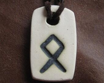 Pendant with rune of Othala (Odala)