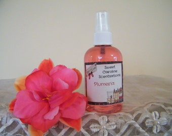Plumeria Scented Body Spray / Scented Body Spray / Body Mist / Scented Body Spritzer / Birthday Gifts