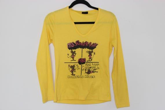 Colorado River Ms. River Rat 1980 V Neck T-Shirt L