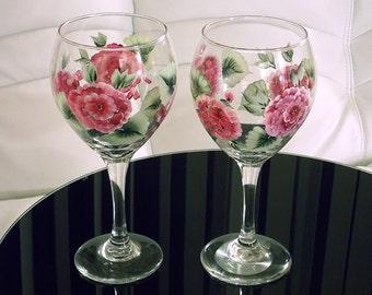 Hydrangea glasses | Etsy