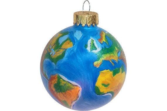 Hand Painted Christmas Ornament Glass Ball World Map Globe Earth Hand  Painted Ornaments Christmas Ornaments Painted Glass Custom Personalize - Hand Painted Christmas Ornament Glass Ball World Map Globe Etsy
