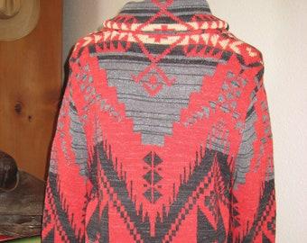 2740e9256 Ralph Lauren Sweater CARDIGAN Women s LRL Cotton Southwestern Aztec Navajo  Blanket Native American MEDIUM Indian Vintage Unused Knit Boho