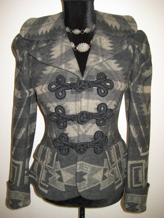 BOLERO Ralph Lauren Jacket Coat Aztec Southwester… - image 2
