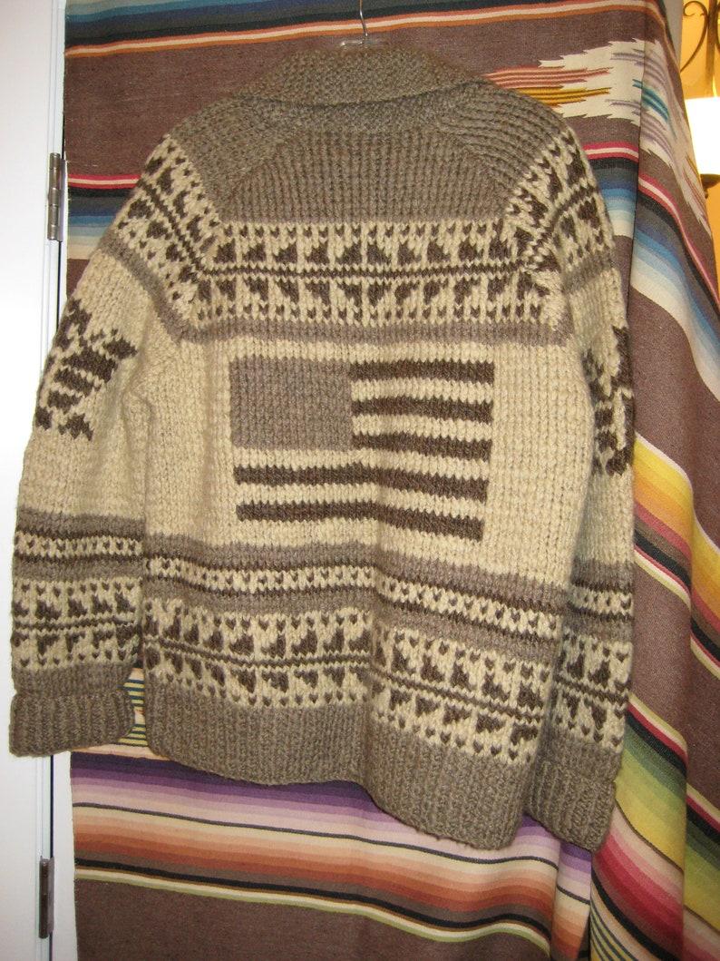 d05af5288 Ralph Lauren Sweater Coat Cardigan Cowichan Hand Knit Wool