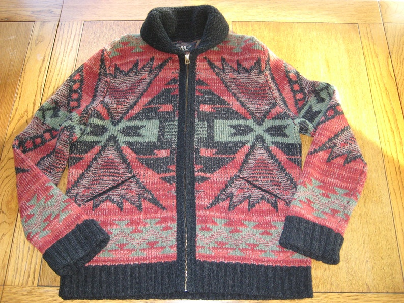 bbf44b57 RRL Ralph Lauren Sweater Double RL Cardigan Men's Zip Knit | Etsy