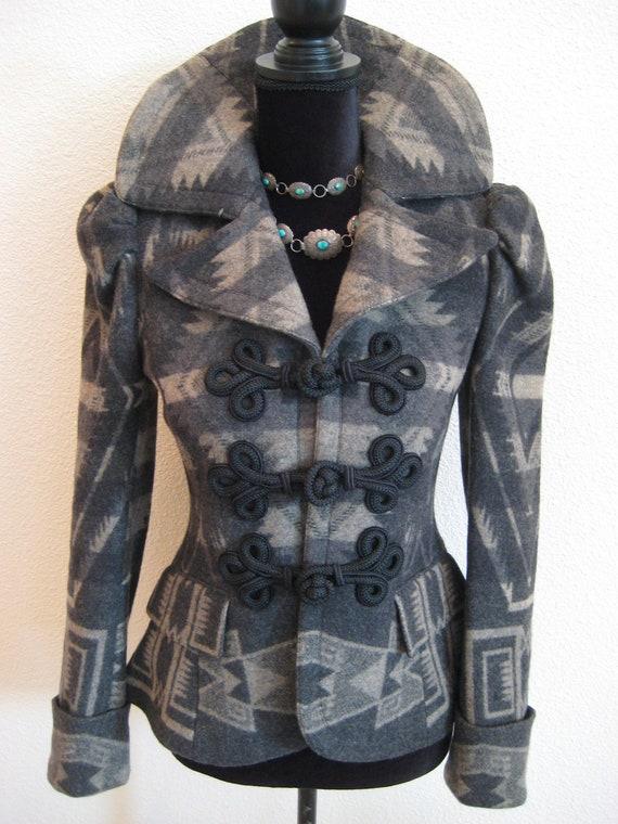 BOLERO Ralph Lauren Jacket Coat Aztec Southwester… - image 1