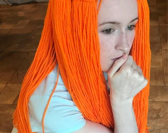 orange cosplay wig - Sally Nightmare Before Christmas Wig