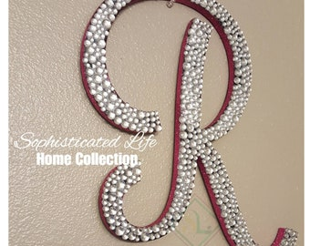 the best attitude f685a e6c15 Wall decor Wall hangings Bling Bling Blinged out name Bling name Sparkle  bling letter Bling wall letter Bling monogram letter Wall letters