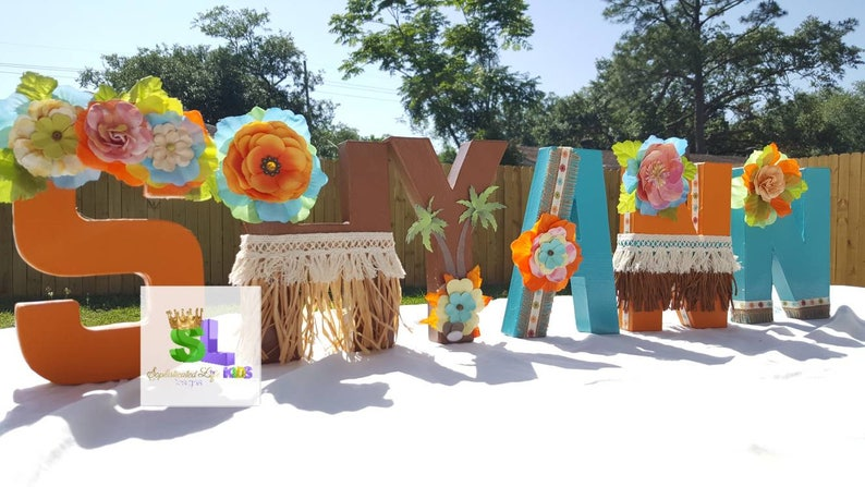 Moana Letters Birthday Party Decorations Ideas Moa