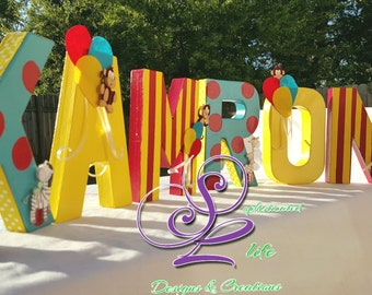 Curious George birthday party inspired letters