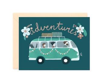 Road trip cards // Camper van // Family adventures // Valentines cards // Hippie love // modern nomads //  Hippie bus