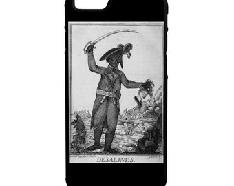Haitian Revolution iPhone Galaxy Note LG HTC Protective Hybrid Rubber Hard Plastic Snap on Case Black Jean-Jacques Dessalines