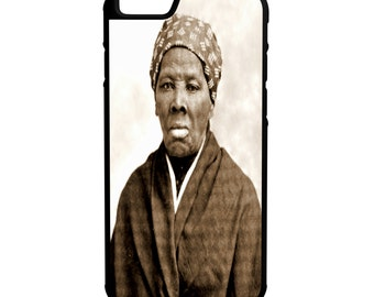 Harriet Tubman iPhone Galaxy Note LG HTC Protective Hybrid Rubber Hard Plastic Snap on Case Black