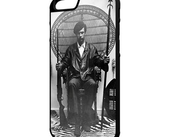Huey P Newton iPhone Galaxy Note LG G4 Protective Hybrid Rubber Hard Plastic Snap on Case Black Black Panther Party
