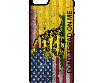 American Gadsden Flag Brick Wall iPhone, Galaxy, Note, LG G4 Hybrid Rubber Protective Case