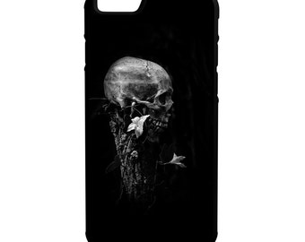 Skull On Post iPhone Galaxy Note LG HTC Hybrid Rubber Protective Case