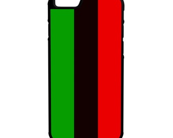Pan African Flag iPhone Galaxy Note LG HTC Protective Hybrid Rubber Hard Plastic Snap on Case Black