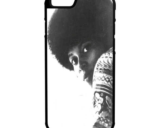 Assata Shakur iPhone Galaxy Note LG HTC Protective Hybrid Rubber Hard Plastic Snap on Case Black