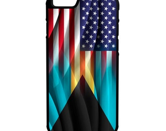 Bahamas USA Flag iPhone Galaxy Note LG HTC Hybrid Rubber Protective Case