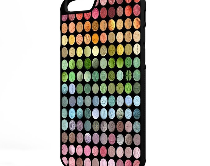 Ecstacy Pills Trippy Psychedelic iPhone Galaxy Note LG HTC Hybrid Rubber Protective Case