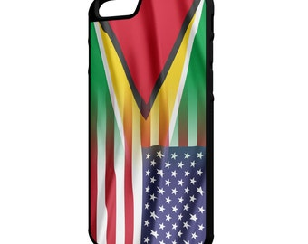 Guyana American Flag iPhone Galaxy Note LG HTC Hybrid Rubber Protective Case