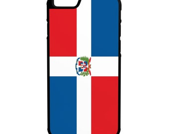 Flag of Dominican Republic iPhone Galaxy Note LG HTC Hybrid Rubber Protective Case