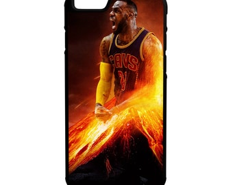 Lebron James iPhone Galaxy Note LG HTC Protective Hybrid Rubber Hard Plastic Snap on Case Black