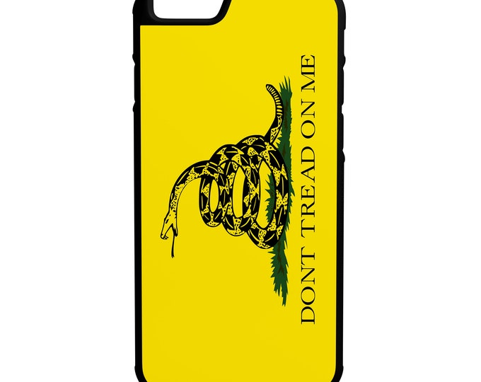 Gadsden Flag Don't Tread on me iPhone, Galaxy, Note, LG G4 Hybrid Rubber Protective Case