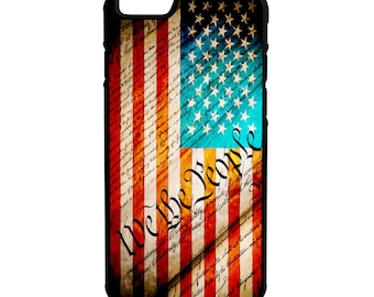 United States Constitution iPhone Galaxy Note LG HTC Hybrid Rubber Protective Case American Flag