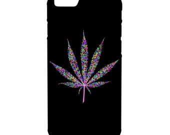 Trippy Weed Leaf iPhone Galaxy Note LG HTC Hybrid Rubber Protective Case