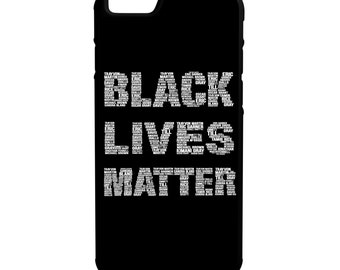 Black Lives Matter Names iPhone Galaxy Note LG HTC Protective Hybrid Rubber Hard Plastic Snap On Case Black